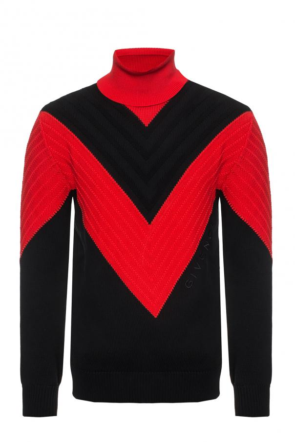 Embroidered turtleneck sweater od Givenchy