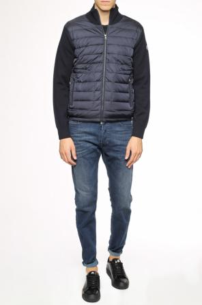 Quilted front sweatshirt od Moncler