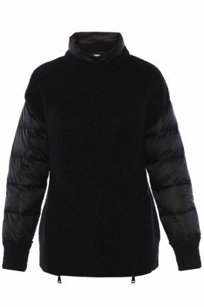 Turtleneck with down elements od Moncler