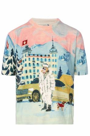 Short sleeve patterned sweater od Moncler