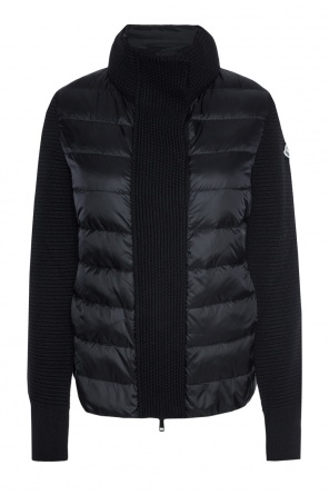 Quilted jacket with wool sleeves od Moncler