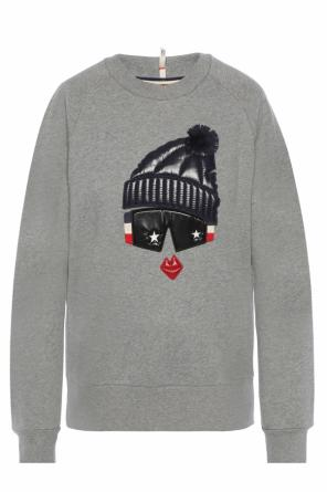 Sweatshirt with application od Moncler Grenoble
