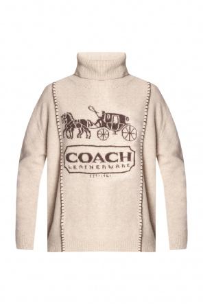 Turtleneck sweater with logo od Coach