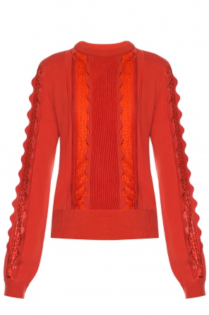 Sweater with lace decoration od Chloe