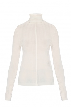 Ribbed turtleneck top with an embroidered logo od Chloe