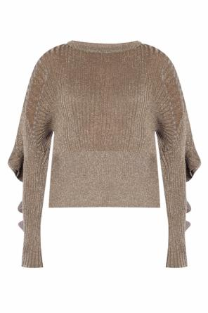 Ribbed sweater with ruffles od Chloe
