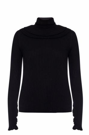 Ribbed turtleneck with ruffles od Chloe