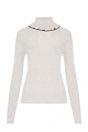 Ruffled turtleneck top od See By Chloe