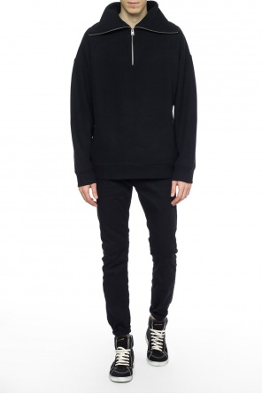 Zip-up turtleneck sweater od AllSaints