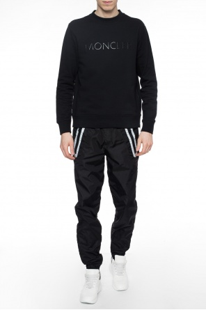 Sweatshirt with decorative zip od Moncler