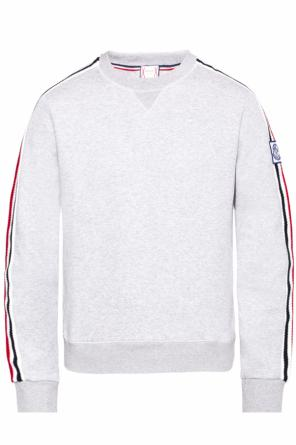 Sweatshirt with logo patch od Moncler