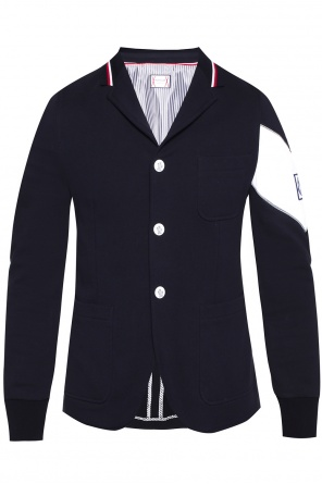 Patched sweatshirt blazer od Moncler