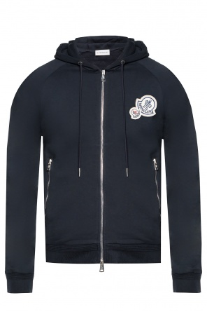 Cotton sweatshirt with a hood od Moncler