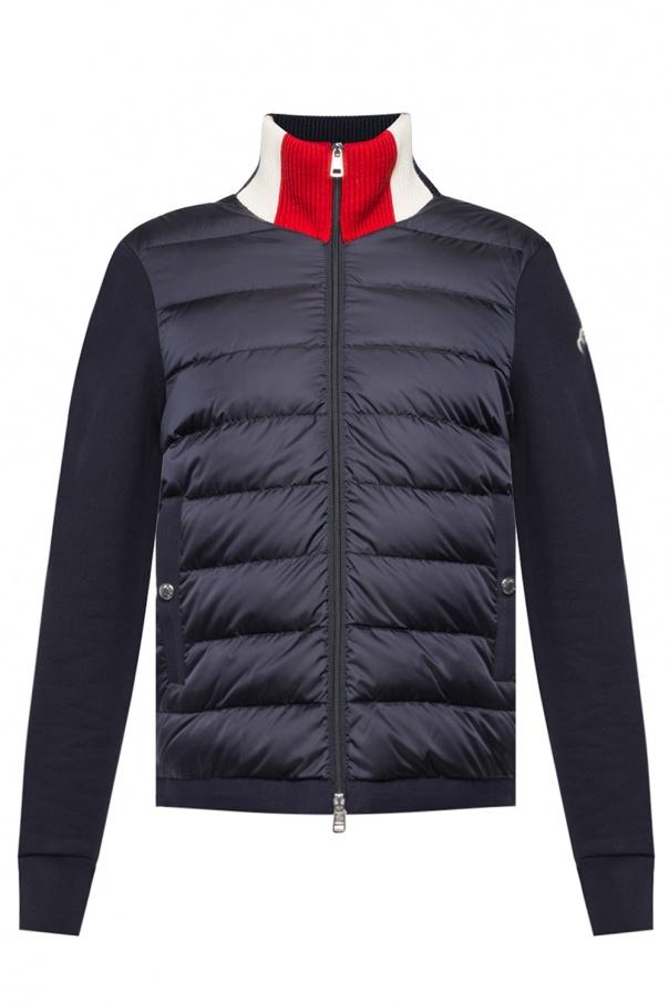 0055be957e078 Pikowana kurtka z logo Moncler - sklep internetowy Vitkac