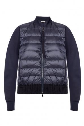 Quilted jacket with a ruffle od Moncler