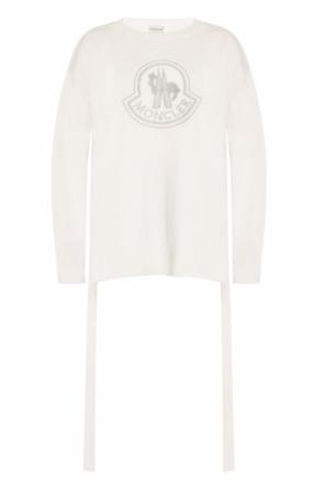 Printed asymmetrical sweater od Moncler