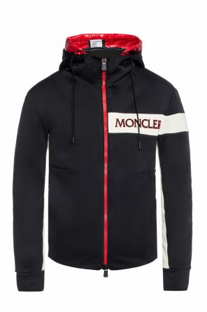 Sweatshirt with velvet logo od Moncler Grenoble