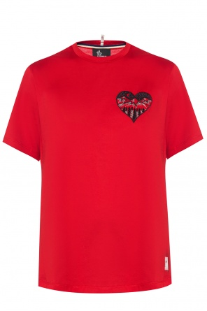 T-shirt with embroidered pattern od Moncler Grenoble