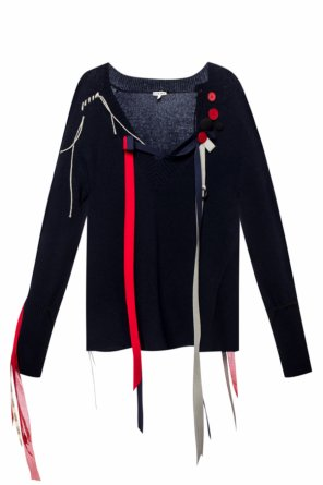 Wool sweater with ribbons od Loewe