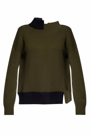Sweater with asymmetrical band collar od Marni