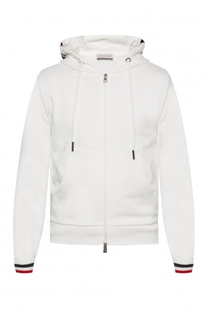 Logo-patched hooded sweatshirt od Moncler