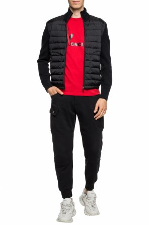 Quilted sweater with band collar od Moncler