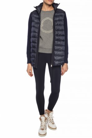 Quilted down jacket with band collar od Moncler