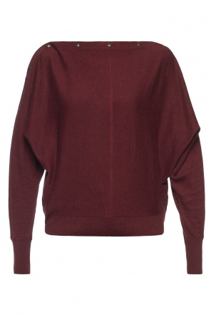 'elle' sweater with elastic trims od AllSaints