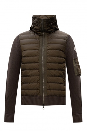 Cardigan with quilted front od Moncler
