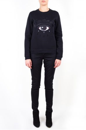Cotton sweatshirt with eye motif od Kenzo