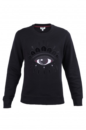 Cotton sweatshirt with eye od Kenzo