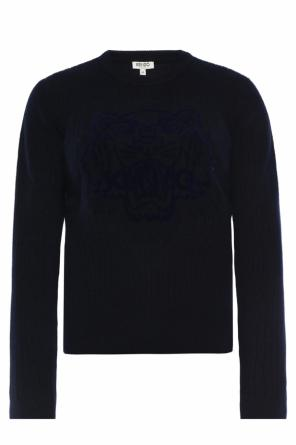 Velvet tiger head sweater od Kenzo