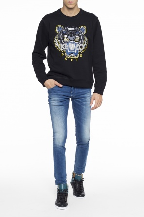 Tiger head-embroidered sweatshirt od Kenzo