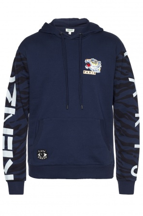 Sweatshirt with logo at sleeves od Kenzo