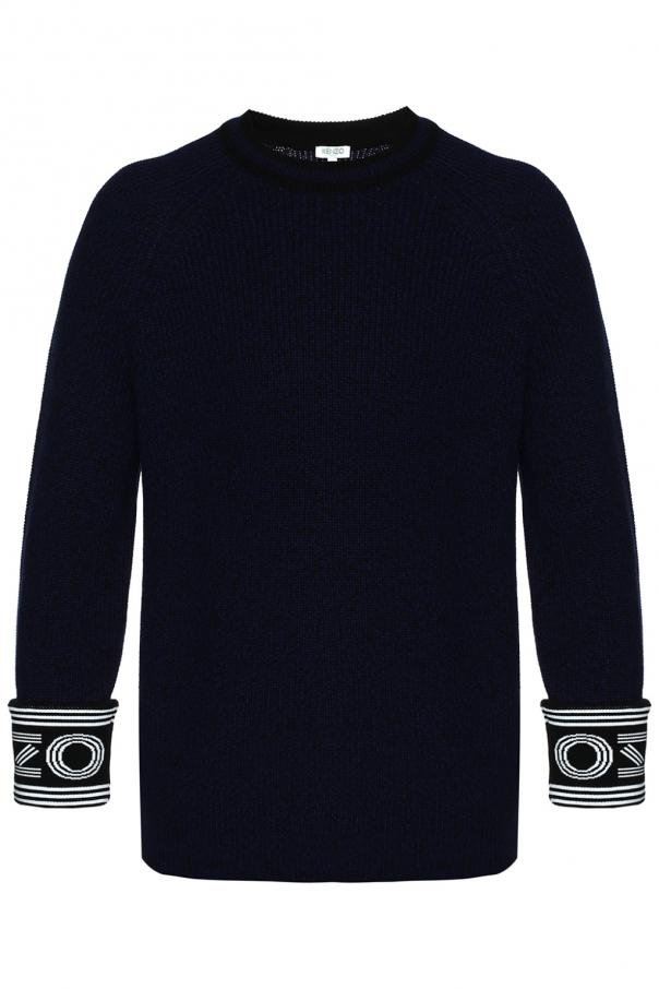 Kenzo Sweater with logo at sleeves
