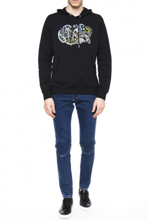 Floral motif-embroidered sweatshirt od Kenzo
