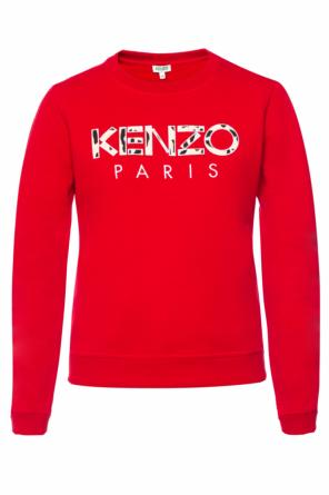 Sweatshirt with a sewn-on logo od Kenzo