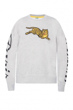 Embroidered tiger motif sweatshirt od Kenzo