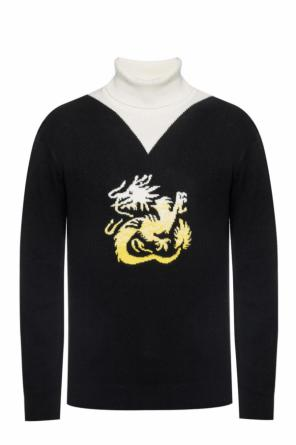 Embroidered turtleneck sweater od Kenzo