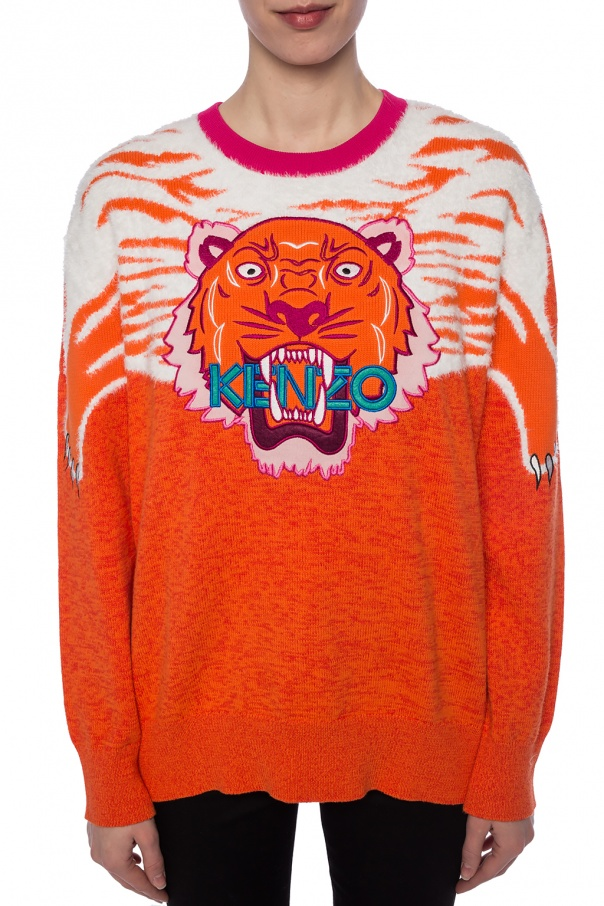Tiger head motif sweater od Kenzo