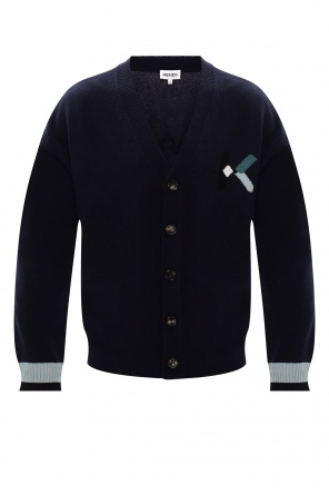 Wool cardigan with logo od Kenzo