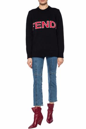 Logo-embroidered sweater od Fendi