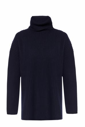 Oversize ribbed turtleneck sweater od Acne