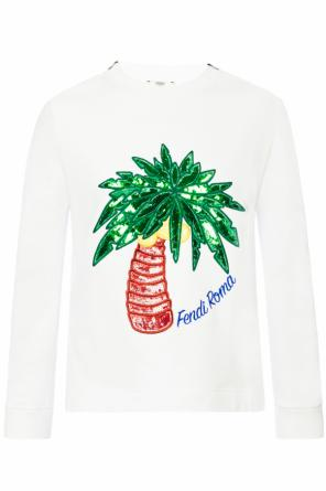 Sweatshirt with embroidered pattern od Fendi