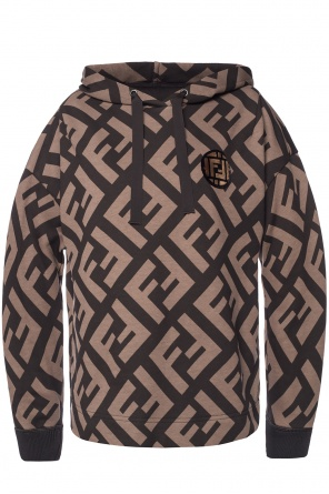 Hooded sweatshirt with logo od Fendi