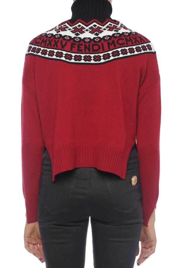 Embroidered turtleneck sweater Fendi