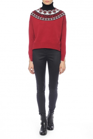 Embroidered turtleneck sweater od Fendi