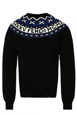 Embroidered asymmetrical sweater od Fendi
