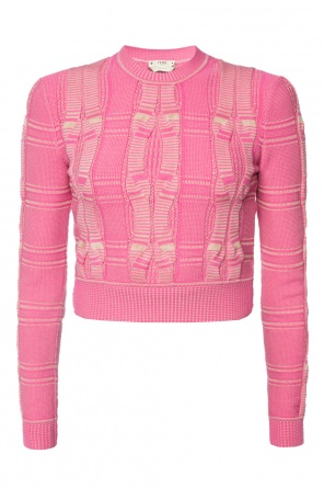 Cropped sweater od Fendi