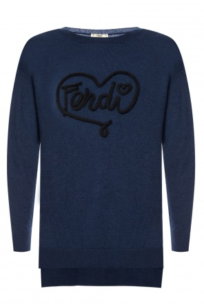 Cashmere sweater with logo od Fendi